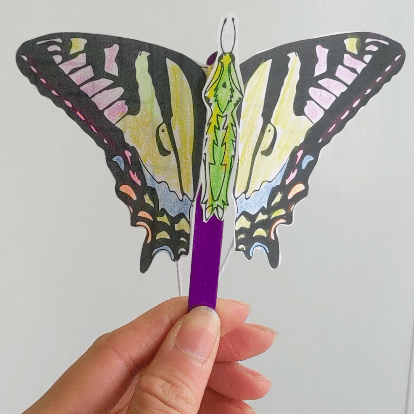 Download: Butterfly Puppet Activity Sheet